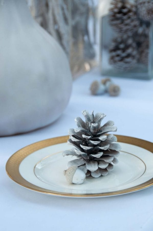 Bleached DIY Christmas Holiday Tablescape
