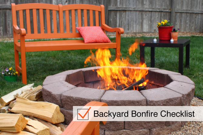 Backyard Bonfire Checklist